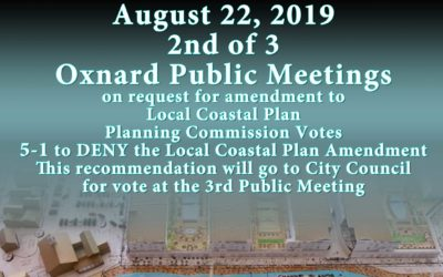 Planning Commission voted 5-1 to DENY LCPA Thursday, August 22, 2019