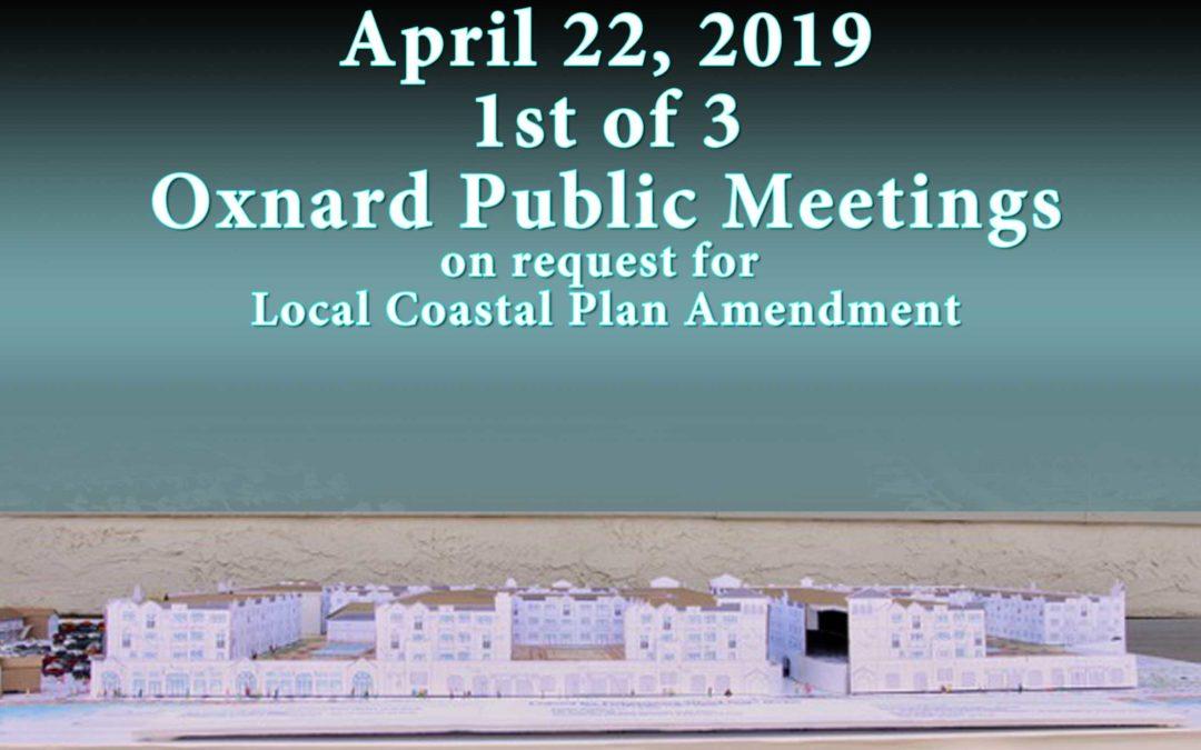 April 22, 2019 Fisherman's Wharf – PUBLIC WORKSHOP
