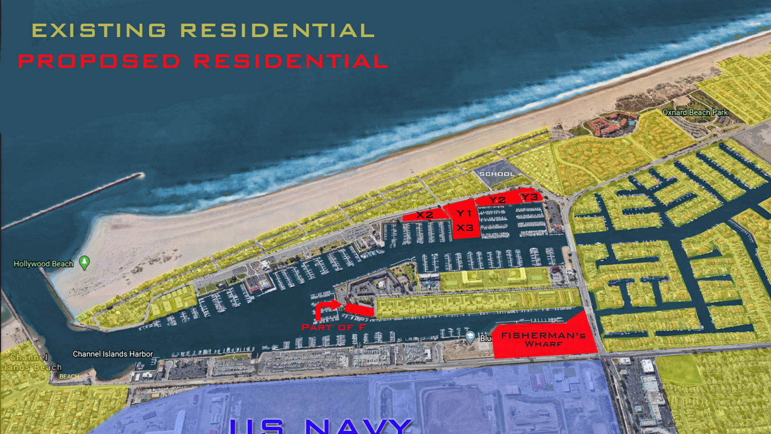 Existing and proposed residential for Fishermans wharf Oxnard
