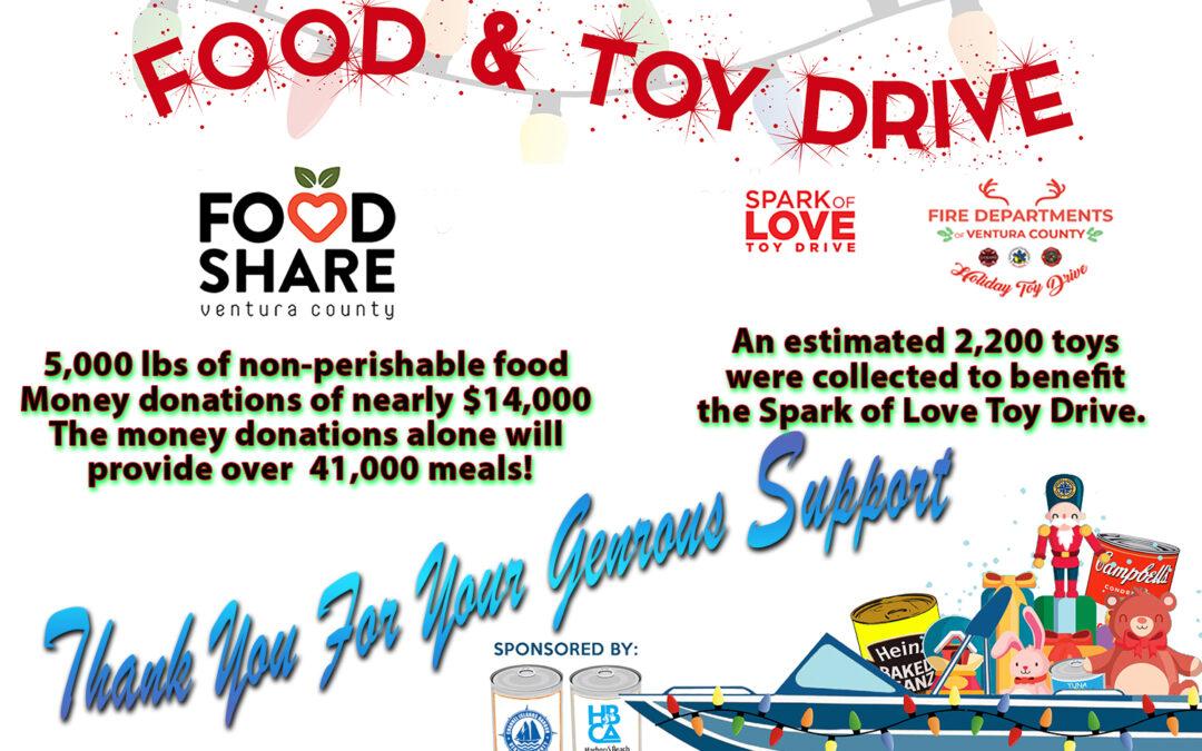 Saturday Dec 12, 2020 Fisherman's Wharf –  Food & Toy Drive